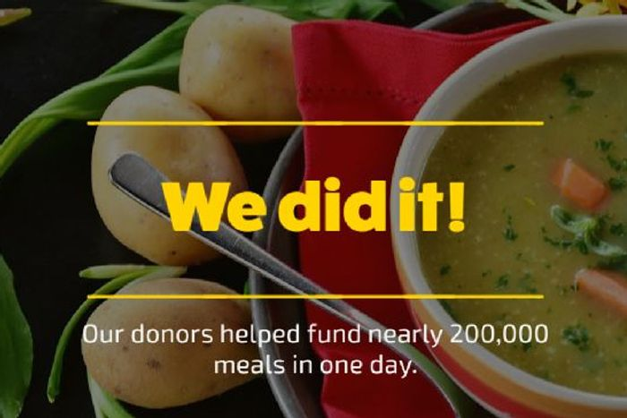 Nearly 200,000 Meals Funded in One Day